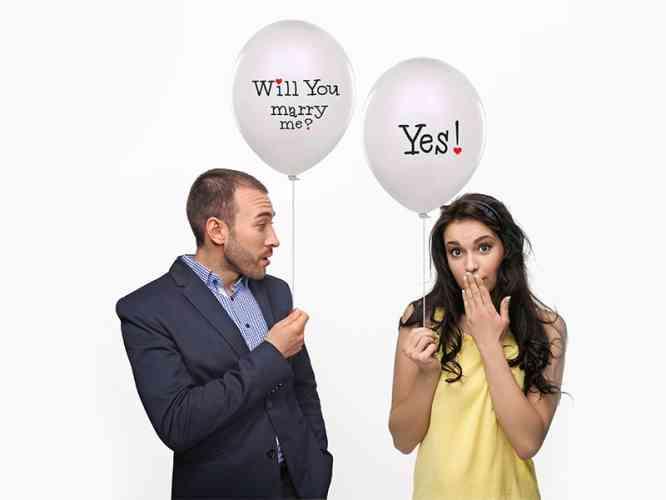 "Balóny ""WILL YOU MARRY ME"" - Biele (6 ks) - obrázok"