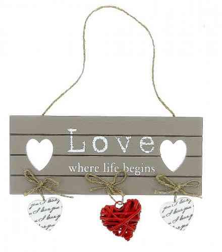 "Dekoračná tabuľka ""VINTAGE HEART"" - obrázok"