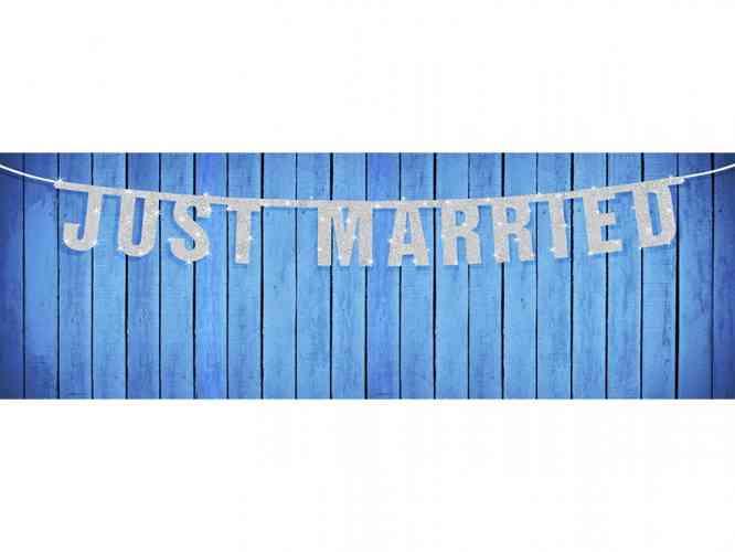 Girlanda JUST MARRIED (1,70 m)  - obrázok