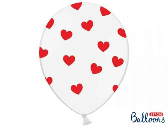 "Balóny ""SRDIEČKA"" - Biele (10 ks) - obrázok"