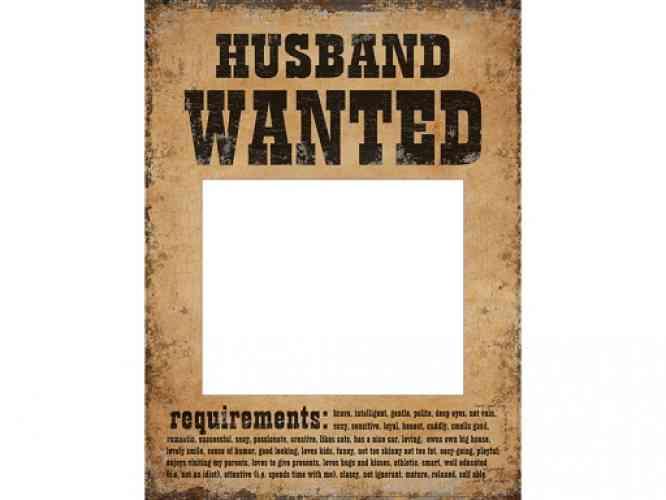 "Tabuľky na fotenie ""HUSBAND WANTED..."" (2 ks) - obrázok"