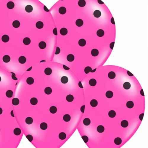 Balóny POLKA DOTS - Fuchsia (6 ks) - 14-223-010_01.jpg