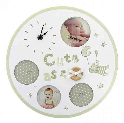 Detský fotorámik s hodinami BABY LOVE - obrázok