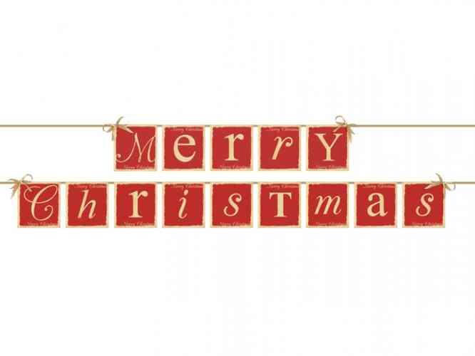 Girlanda MERRY CHRISTMAS (220 cm)  - obrázok