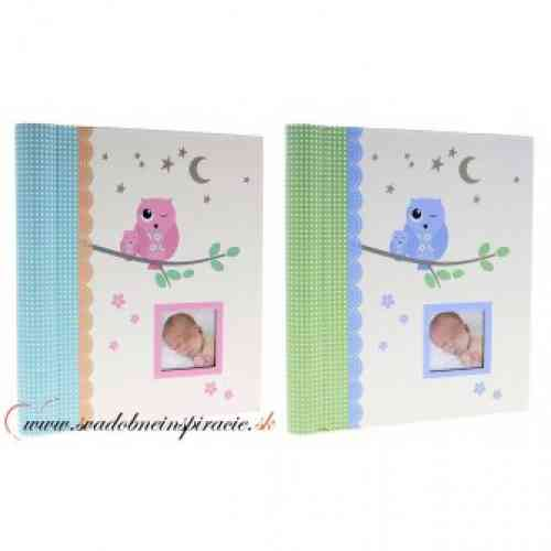 Detský fotoalbum OWLY BABY /fóliový fotoalbum/  - obrázok